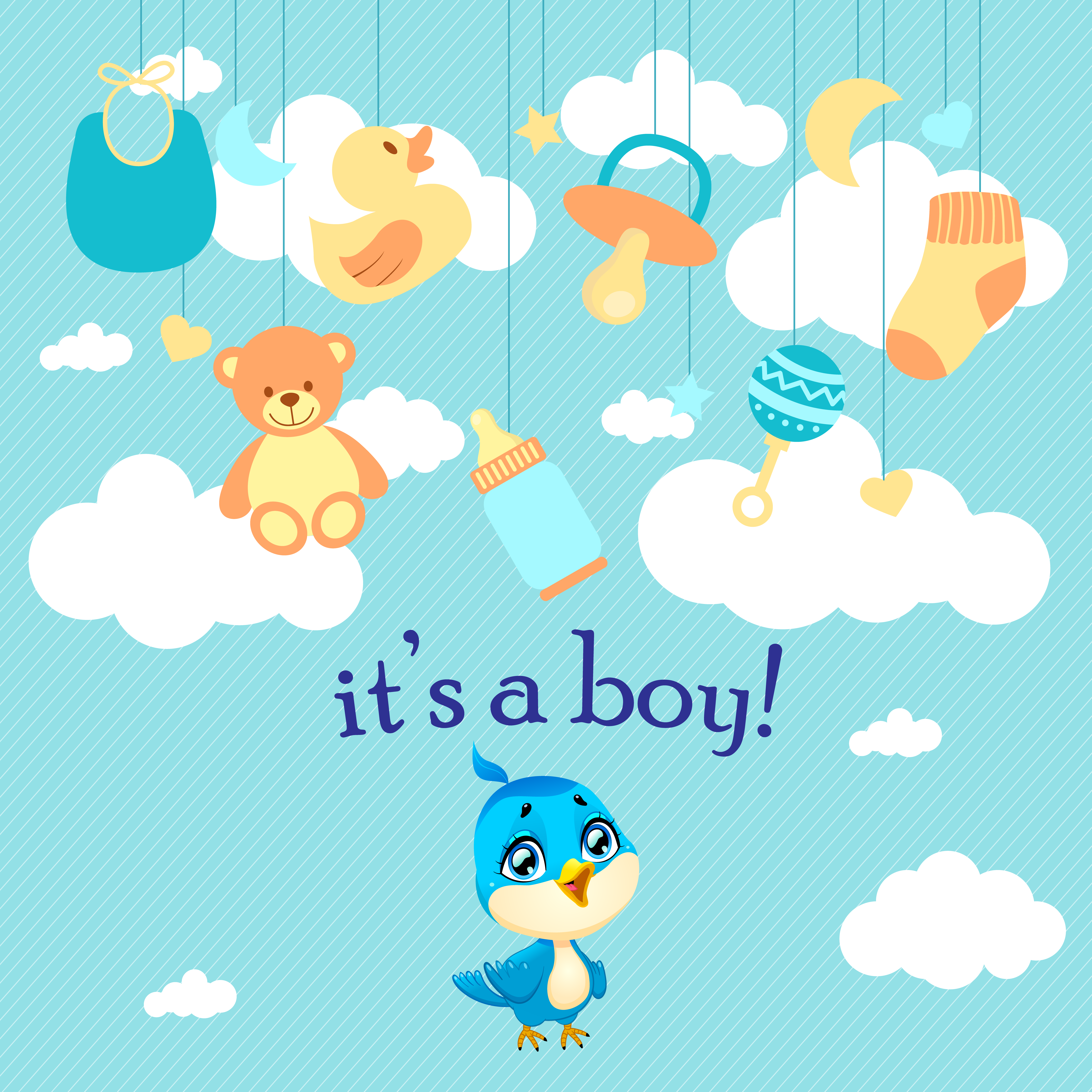 it's a boy – baby bird