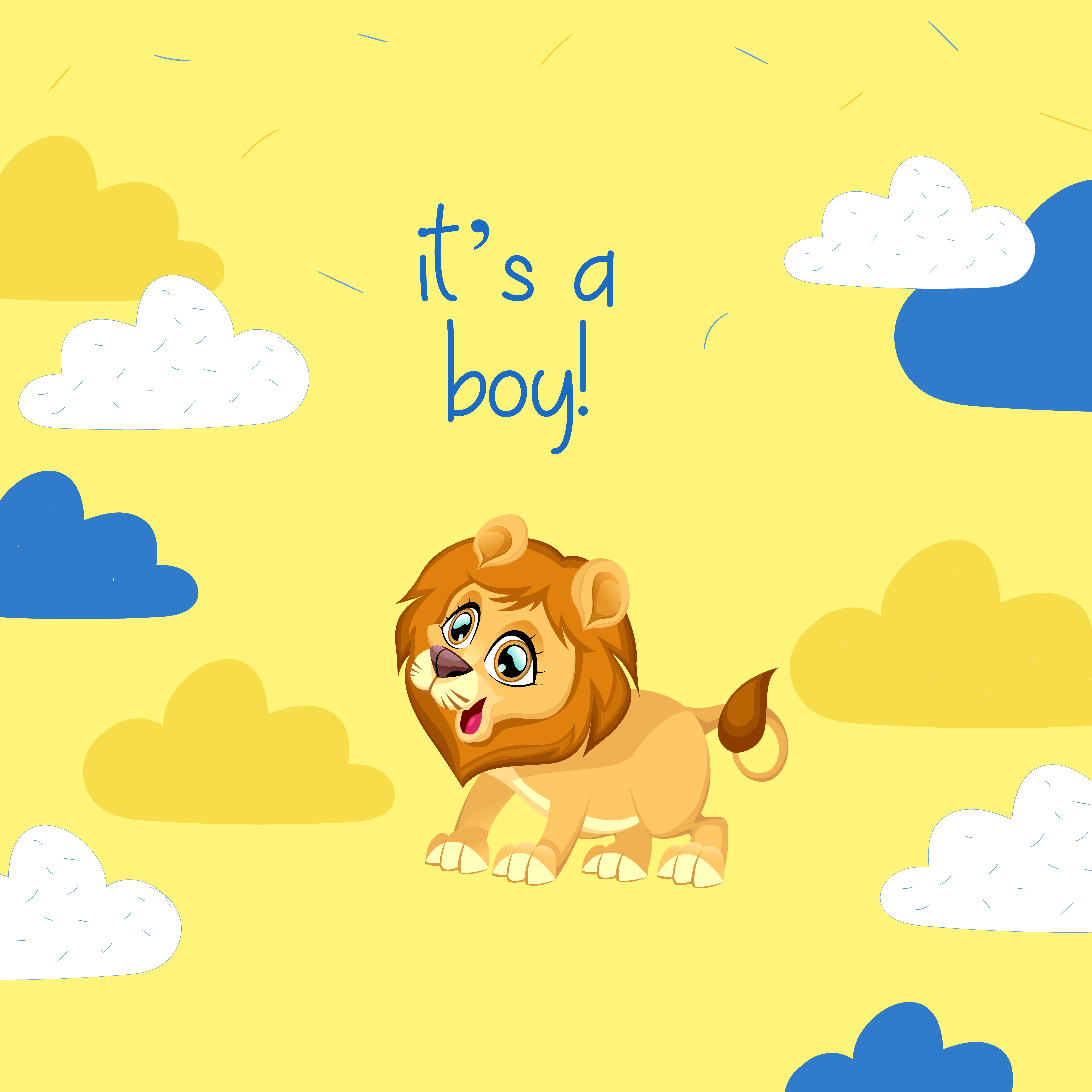it's a boy – baby lion